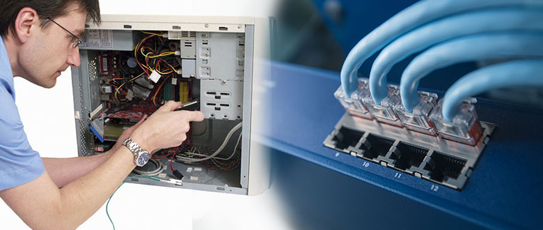 East Peoria Illinois On Site Computer PC & Printer Repairs, Network, Voice & Data Low Voltage Cabling Solutions